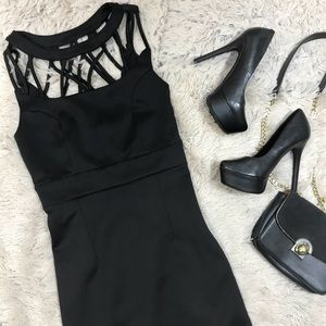 Forever21 Black Bodycon Cut Out Detail Dress